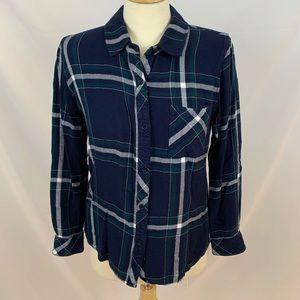 Rails Hunter Plaid Flannel Shirt midnight forest